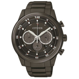 Citizen Eco-Drive Men's Black Chronograph Watch CA4035-57E
