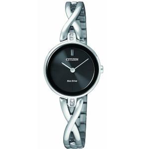 Citizen Eco-Drive Ladies Swarovski Crystal Bracelet Watch EX1420-84E