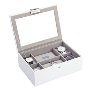 Stackers Watch Box For 8 Watches in White 73593