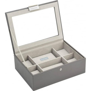 Stackers Watch Box For 8 Watches in Mink And Stone Colour 73594