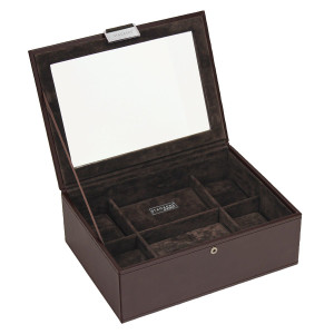 Stackers Watch Box For 8 Watches in Tobacco Brown 73226