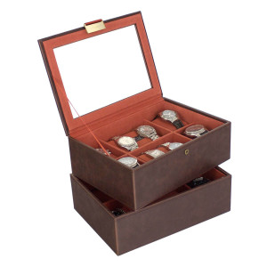 Stackers Watch Box For 16 Watches in Brown 73231