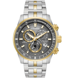 Citizen Eco-Drive Radio Controlled Perpetual Calendar Watch AT4124-51H