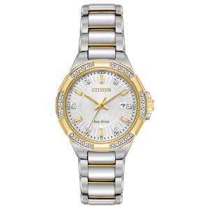 Citizen Eco-Drive Ladies Diamond Two-Tone Watch EW2464-55A