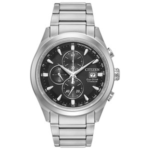 Citizen Eco-Drive Men's Chandler Titanium Sapphire Crystal Watch CA0650-58E