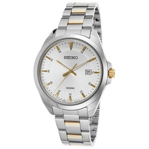 Seiko Men's Classic Stainless Steel Bracelet Watch SUR211P1