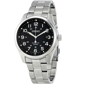Seiko Men's Kinetic Stainless Steel Bracelet Watch SKA721P1