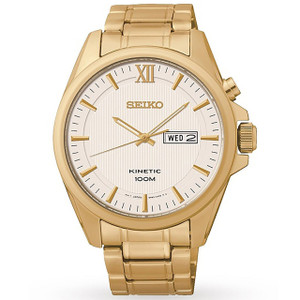 Seiko Men's Dress Kinetic Stainless Steel Watch SMY158P1