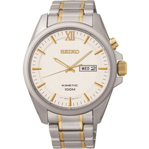 Seiko Men's Dress Kinetic Stainless Steel Watch SMY161P1