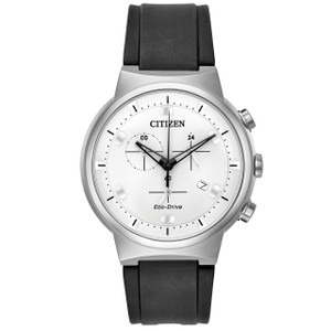 Citizen Eco-Drive Men's Paradex Rubber Strap Chronograph Watch AT2400-05A