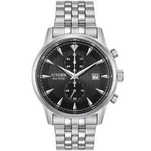 Citizen Eco-Drive Corso Chronograph Stainless Steel Watch CA7000-55E