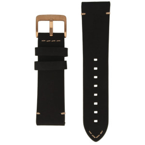 Police Genuine Replacement Watch Strap Black Leather For 14385JSRS/57