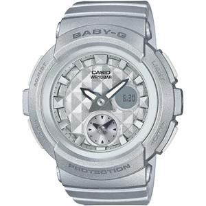 Baby-G Analogue and Digital Dual Dial World Time in Grey BGA-195-8AER