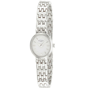 Rotary Ladies Bracelet White Oval Dial Watch LB02083/02