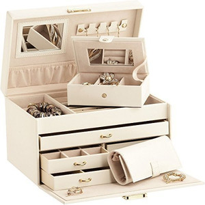 Mele & Co Duchess Leather Jewellery Box with separate Traveller and Jewellery Roll 758I
