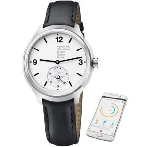 Mondaine Helvetica No1 Black Leather Smart Watch MH1.B2S10.LB
