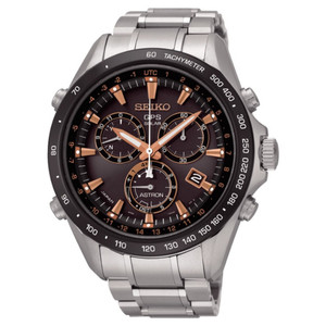 Seiko Astron GPS Solar Powered Men's Chronograph Watch SSE033J1