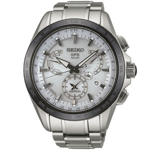 Seiko Astron GPS Solar Powered Men's Dual Time Watch SSE047J1