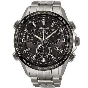 Seiko Astron GPS Titanium Solar Powered Men's Dual Time Watch SSE003J1