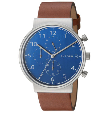 Skagen Ancher Chronograph Men's Watch with Blue Dial SKW6358