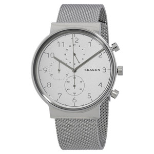Skagen Ancher Chronograph Men's Watch With White Dial SKW6361