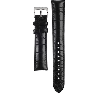 Armani Replacement Watch Strap Black Textured Leather 18mm For AR0424 With Free Connecting Pins