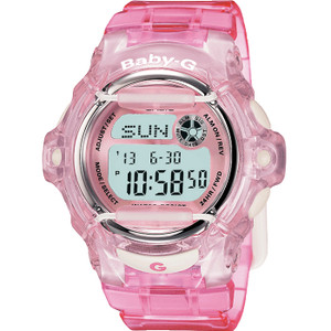 Baby-G Pink Crystal Watch With Alarm BG-169R-4ER