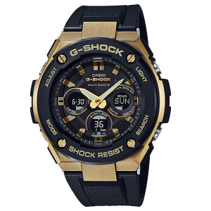 G-Shock Steel Solar Radio Controlled Black Resin Strap Watch GST-W300G-1A9ER