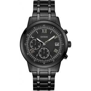 Guess Summit Men's Chronograph Watch with Black Dial W1001G3