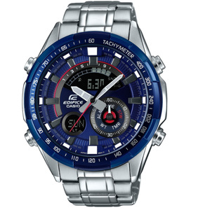 Casio Edifice World Time Chronograph Thermometer Blue Dial Watch ERA-600RR-2AVUEF