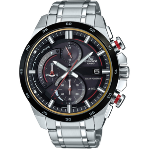 Edifice Mens Solar Powered Chronograph Stainless Steel Watch EQS-600DB-1A4UEF