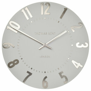 Thomas kent Mulberry Wall Silver Cloud Small clock