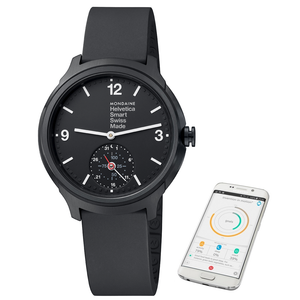 Mondaine Helvetica 1 Black Rubber Smart Watch MH1.B2S20.RB