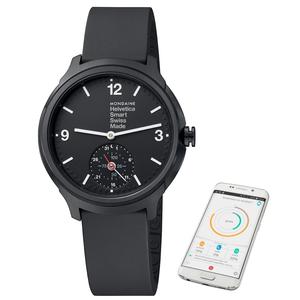 Mondaine Helvetica 1 Black Rubber Smart Watch MH1.B2S20.RB