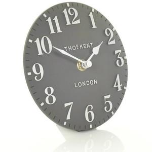 Thomas Kent Arabic Mantel Dolphin Grey Colour Clock CK6175 (15 CM)