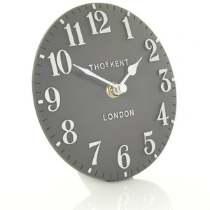 Thomas Kent Arabic Mantel Dolphin Grey Colour Clock CK6175 (15 CM)