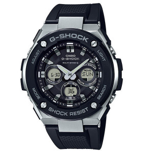 G-Shock Steel Solar Radio Controlled Black Resin Strap Watch GST-W300-1AER