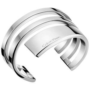 Calvin Klein Open Bangle Bracelet Beyond in Silver KJ3UMF0001