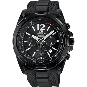 Casio Men's Edifice Black Solar Powered Chronograph Watch EFR-545SBPB-1BVER