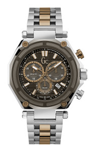 Gc Men's -3 Sport Silver And Bronze Chronograph Watch X10007G2S