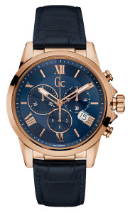 Gc Men's Esquire Rose Gold And Blue Chronograph Watch Y08003G7