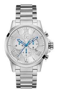 Gc Men's Esquire Silver Chronograph Watch Y08007G1