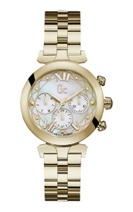 Gc Ladybelle Gold Stainless Steel Dress Watch Y28003L1