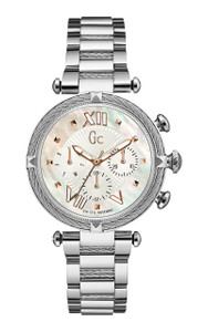 Gc Ladies Cablechic Silver Stainless Steel Watch Y16001L1