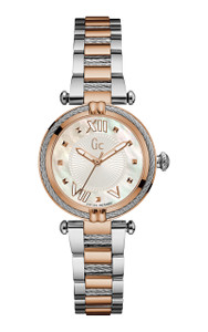 Gc Ladies Cablechic Rose Gold And Silver Watch Y18002L1
