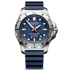 Victorinox Swiss Army I.N.O.X. Professional Divers Watch with Blue Rubber Strap 241734