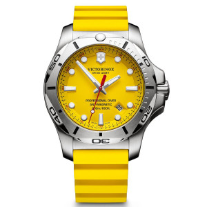 Victorinox Swiss Army I.N.O.X. Professional Divers Watch with Yellow Rubber Strap 241735