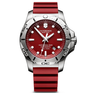 Victorinox Swiss Army I.N.O.X. Professional Divers watch with Red Rubber Strap 241736