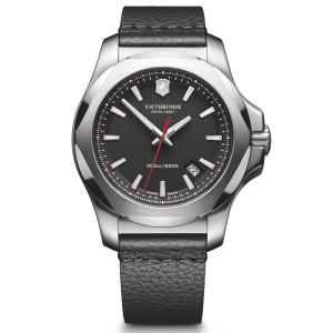 Victorinox Swiss Army I.N.O.X. Black Dial Watch with Black Leather Strap 241737
