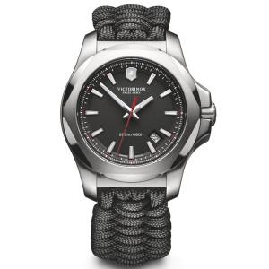 Victorinox Swiss Army I.N.O.X. Naimakka Black Dial Paracord Bracelet Watch 241726.1